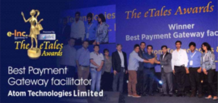 Atom Technologies won The Best Payment Gateway Facilitator at the eTales Awards