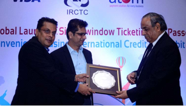 Good Response to IRCTC-Atom Tie up to Book Train Ticket on International Card