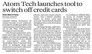atomtech launches tool to switch off credit cards